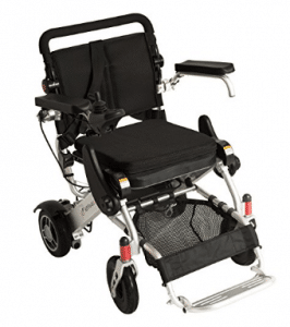 F KD FoldLite Lightweight Portable Folding Electric Power Wheelchair, with High Solid CNC Front Fork