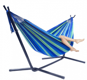 Sorbus Double Hammock with Steel Stand Two Person Adjustable Hammock Bed