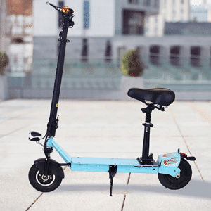 Ancheer Electric Scooters for Adults with Seat and Dual Suspension- Foldable Escooter for Women/Men