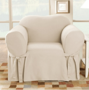 Sure Fit Cotton Duck - Chair Slipcover - Natural (SF26806)