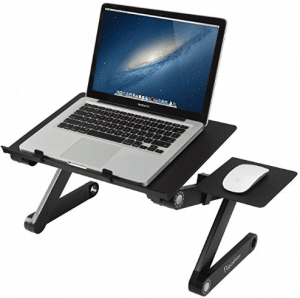 Readaeer Portable Adjustable Laptop Computer Desk Stand Table(Black)