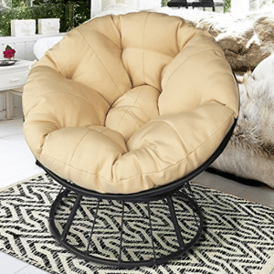 ART TO REAL Papasan Lounge Chair with Soft Cushion - Papasan Chairs with Cushions