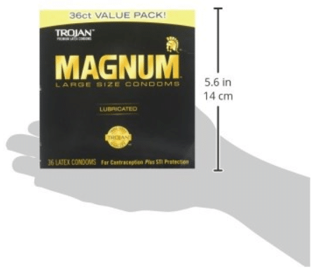 TROJAN Magnum Lubricated Latex Large Size Condoms