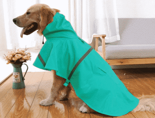 Mikayoo Large Dog Raincoat Ajustable Pet Waterproof Clothes Lightweight Rain Jacket