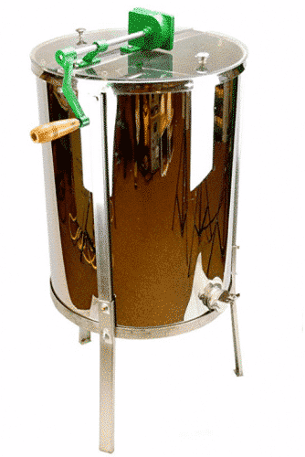 Honey Extractor-Stainless Steel 8/4 Frame Hand Crank Extractor