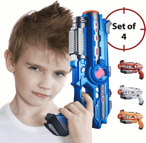 Laser Tag Guns Set – 4 Pack Multiplayer Laser Tag Game