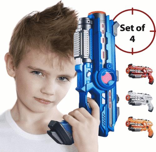 Laser Tag Guns Set – 4 Pack Multiplayer Laser Tag Game