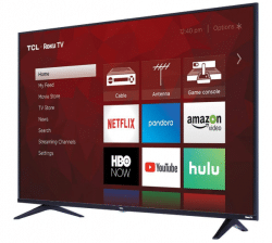 TCL 65S517 65-Inch 4K Ultra HD Roku Smart LED TV