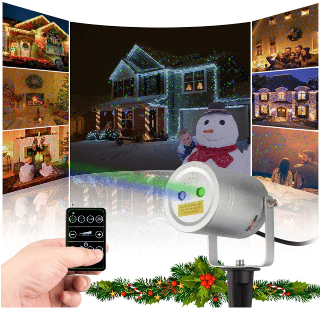 Starry Motion Star Projector with RF Remote Auto On/Off Timer