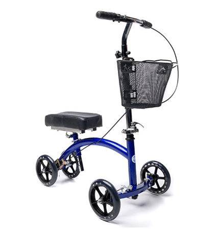 KneeRover Deluxe Steerable Knee Cycle Knee Walker Scooter