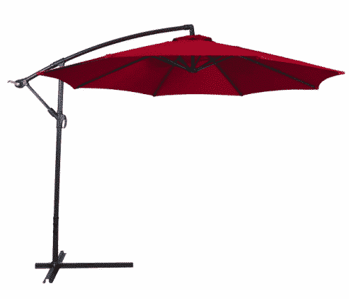 Belleze 10ft Outdoor Patio Umbrella Sun Shade Hand