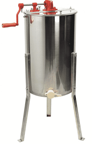 New Large Two 2 Frame Stainless Steel Manual Crank Bee Honey Extractor