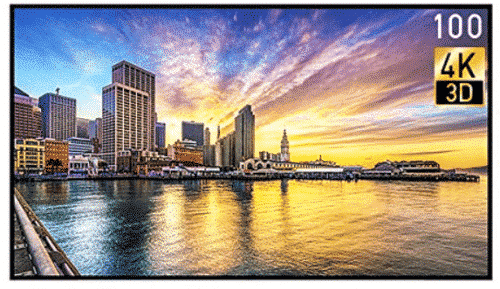 100 Inch LED TV (4K) Smart TV, Displayer, Monitor
