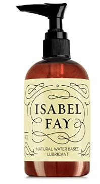 Price: $13.25 $13.95 Save $0.70 (5%) In Stock. Sold by Bruno & Isabel and Fulfilled by Amazon. 4 Sizes: 4 Oz 4 Oz $13.95 8 Oz $16.95 16 Oz $23.95 ($5.99 / ounce) 32 Oz $31.95 Subscribe & Save 5% Discount Applied 15% $13.25 Unlock 15% savings by subscribing to 5 products. Learn more One-time Purchase $13.95 Qty:Deliver every: Subscribe now Add to List Share Facebook Twitter Pinterest Natural Personal Lubricant for Sensitive Skin Isabel Fay - Water Based