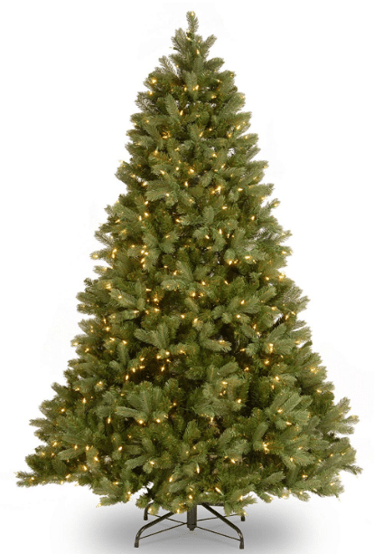 "National Tree 6.5 Foot""Feel-Real"" Downswept Douglas Fir Tree with 650 Clear Lights"