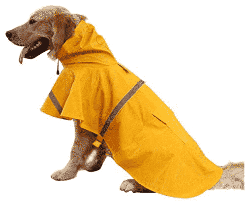 okdeals Large Dog Raincoat Leisure Pet Waterproof Clothes Lightweight Rain Jacket