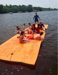 Floating Foam Fun Pad Designed for Water Recreation and Relaxing