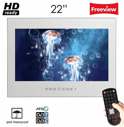 Soulaca 22inch Frameless Waterproof Magic Mirror Bathroom TV