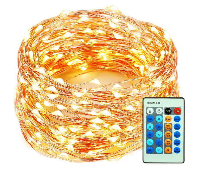 99 Feet 300 LEDs Copper Wire String Lights