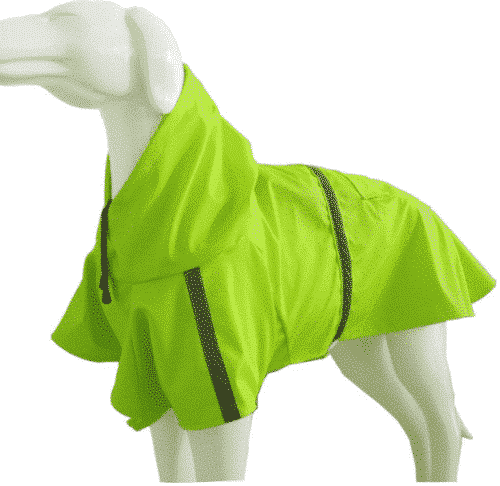 Dog Raincoat Leisure Waterproof Lightweight Dog Coat Jacket Reflective Rain Jacket