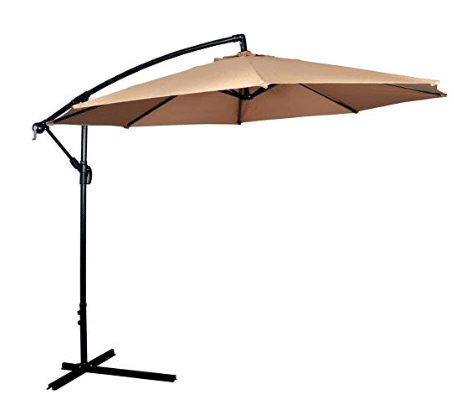 Umbrella Offset 10' Hanging Umbrella Outdoor Market Umbrella
