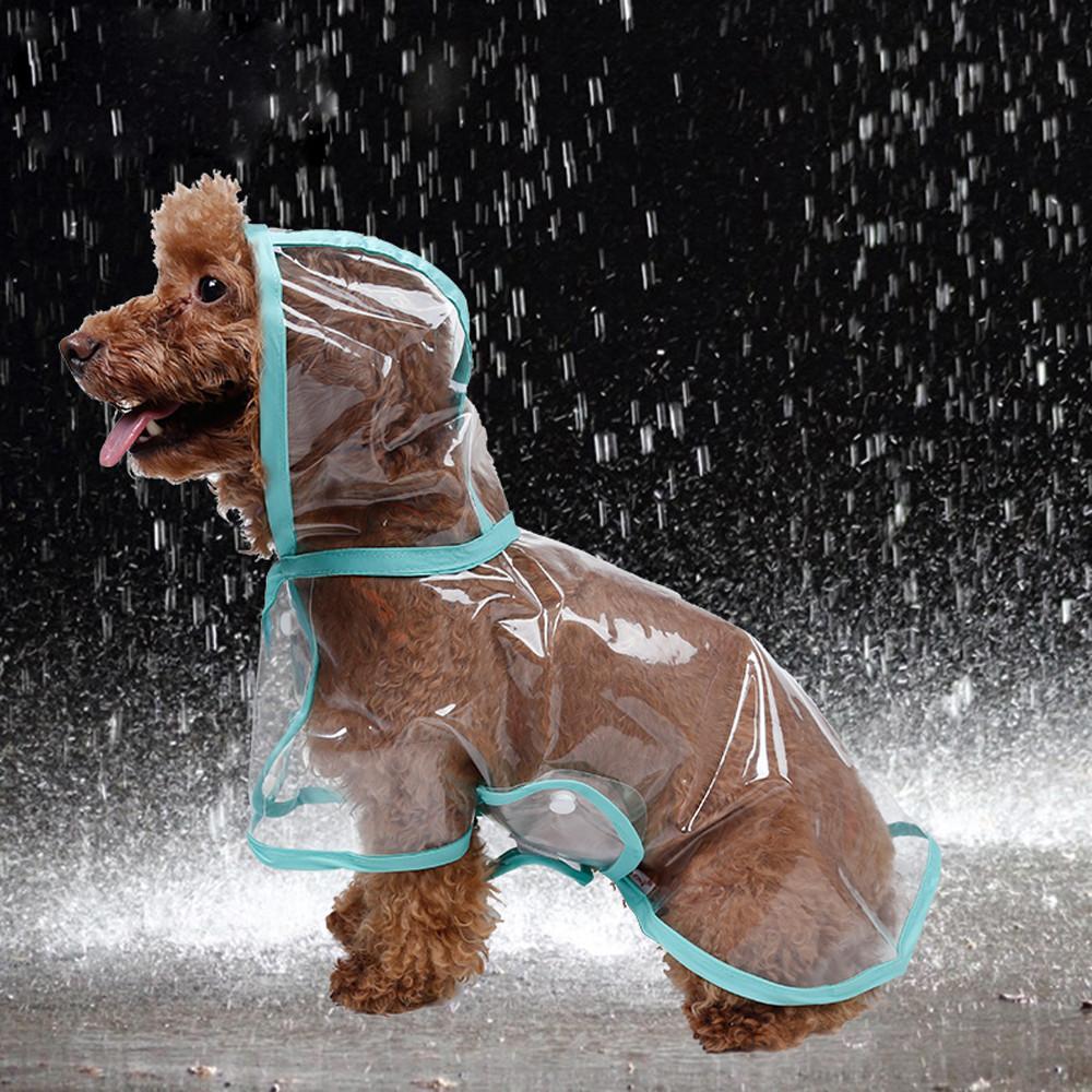 AzsfUfsa53 Pet Dog Cat Raincoat Jacket Rainwear Waterproof Transparent Buttons Hooded Coat Warm Raincoat for Lovely Dogs Cats