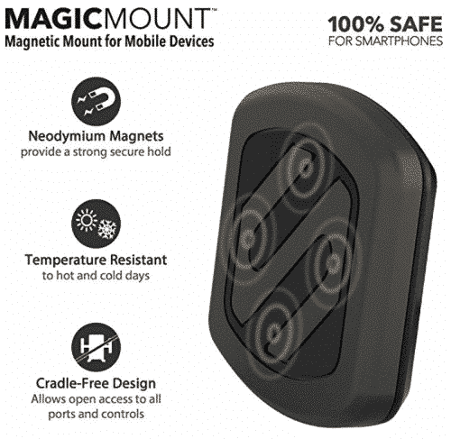 SCOSCHE MAGDMB MagicMount Universal Magnetic Phone/GPS Mount for the Car