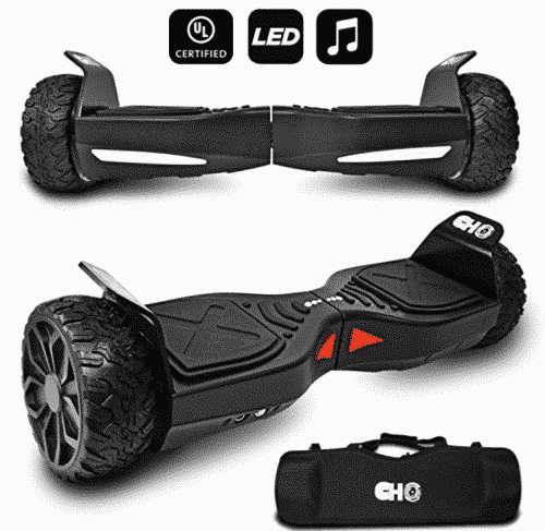 CHO[TM All Terrain Rugged 6.5 Inch Wheels Hoverboard Off-Road
