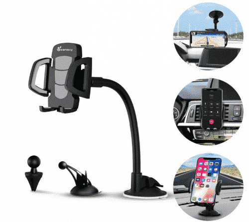 Car Phone Mount, Vansky 3-in-1 Universal Phone Holder Cell Phone Car