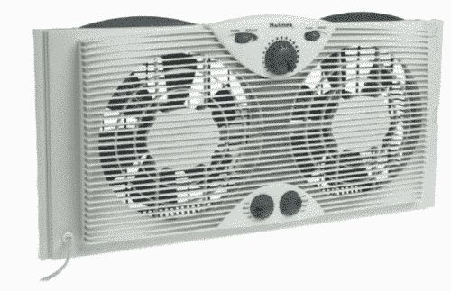 Holmes HAWF-2041 Twin Window Fan with Comfort Control Thermostat