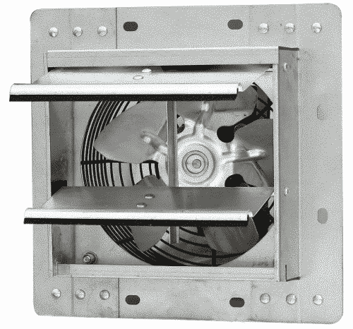 Iliving ILG8SF7V Wall-Mounted Variable Speed Shutter Exhaust Fan Crawl Space Ventilator