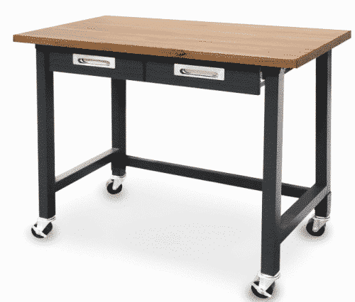 Seville Classics (UHD20271B) UltraGraphite Wood Top Workbench on Wheels