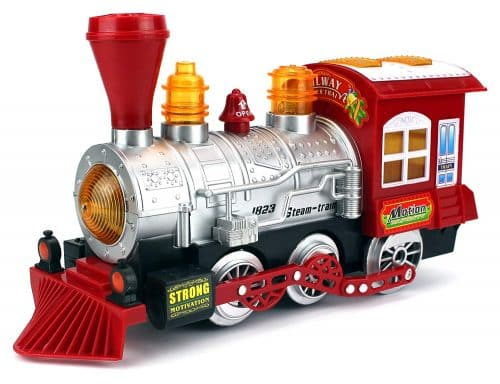 Velocity Toys Steam Train Locomotive Engine Car Bubble Blowing