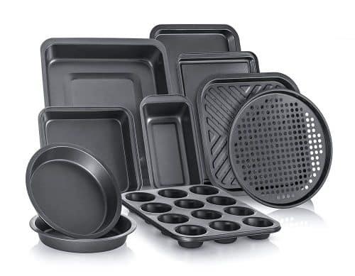 Perlli Complete Bakeware Set 10-Piece Non-Stick, Oven Crisper
