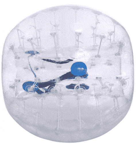 Hindom TPU Transparent Inflatable Bumper Ball Human Knocker Ball Bubble Soccer