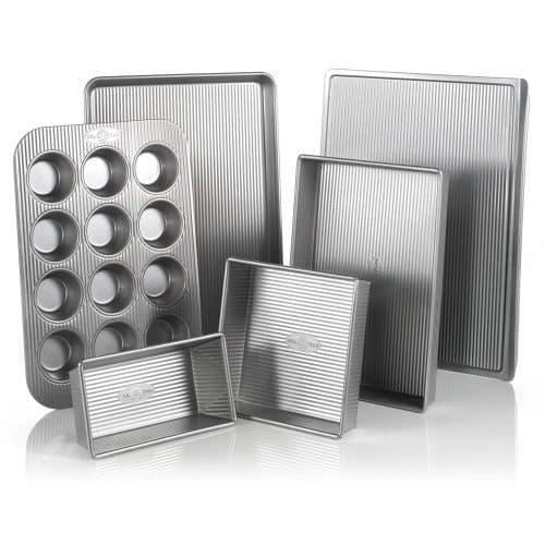 USA Pan Bakeware Aluminized Steel 6 Pieces Set