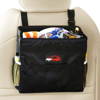 EPAuto Waterproof Car Trash Bin Leakproof Auto Litter Bag with Side Pocket