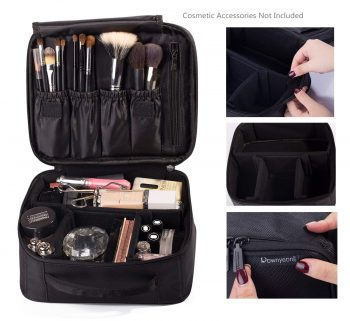 ROWNYEON Portable Travel Makeup Bag Makeup Case Mini Makeup Train Case