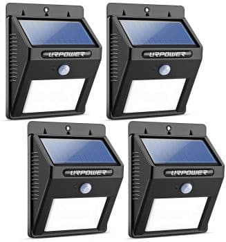 URPOWER Solar Lights 8 LED Wireless Waterproof Motion Sensor Outdoor Light for Patio