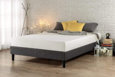 Zinus Essential Upholstered Platform Bed Frame/Mattress