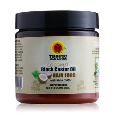 Tropic Isle Living Coconut Jamaican Black Castor Oil Hair Food