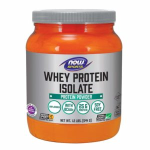 NOW Sports Whey Protein Isolate Unflavored Powder