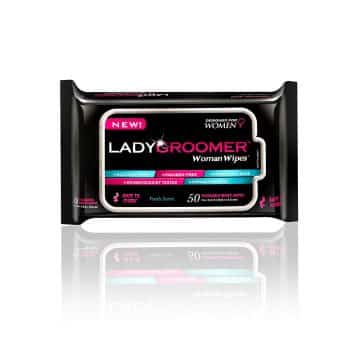 LADYGROOMER Woman Wipes Flushable Moist Personal Wipes Designed for Women
