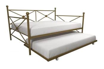 DHP Lina Full-Size Metal Daybed with Twin-Size Trundle