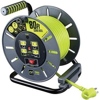 Masterplug 80ft Heavy Duty Extension Cord Open Reel with 4 120V