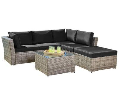 Suncrown Outdoor Furniture Sectional Sofa