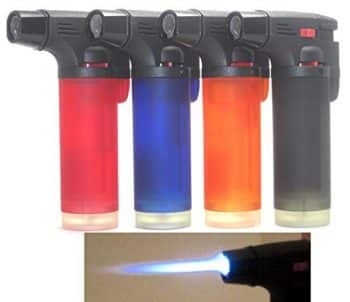 Pack of 4 Single Jet Flame Torch Lighter Windproof Refillable Cigarette Lighter