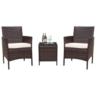 Flamaker 3 Pieces Patio Furniture Set Modern Outdoor Furniture Set