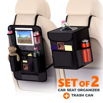 Backseat Car Organizer + Car Trash Can