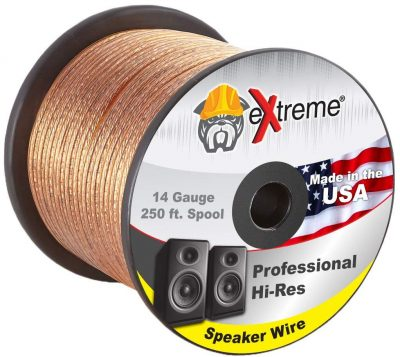 250 Feet 14 Gauge Pure Copper Core eXtreme Speaker Wire